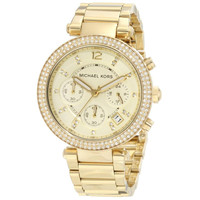 Michael Kors Women's MK5354 'Parker' Yellow Gold Stainless Steel Watch | Overstock.com Shopping - The Best Deals on Michael Kors Women's Watches
