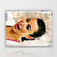 Funny Cute Kim Kardashian Ugly crying face water color art painting Laptop & iPad Skin by pointsalestore