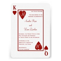 Monogram Heart Playing Card Las Vegas Wedding