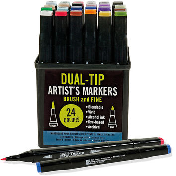 Studio Series Professional Alcohol Markers - Dual Tip - 24 Pack