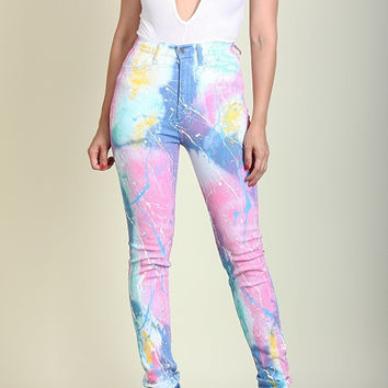Cotton Candy Cloud Highwaist Jeans