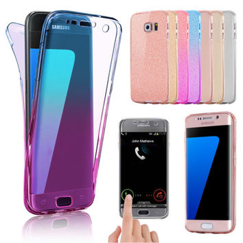 360° Protective Silicone Gel Front & Back Case Cover for Samsung Galaxy Mobiles | eBay