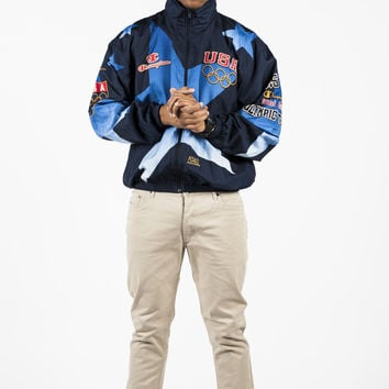 Vintage 1996 Olympic Blue Windbreaker (3 Sizes Available)