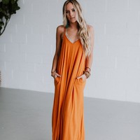 Perfection Pocket Maxi Dress - Desert Mustard