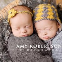 Yellow and Grey Twin Set  — Gracie's Garden Designs