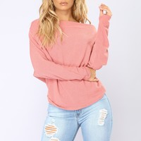 Love Bug Long Sleeve Top - Mauve