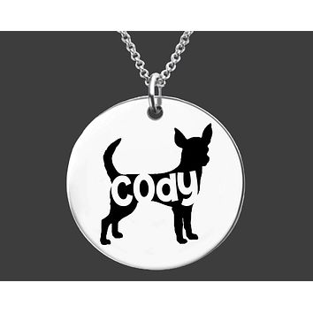 Chihuahua Necklace | Personalized Dog Necklace