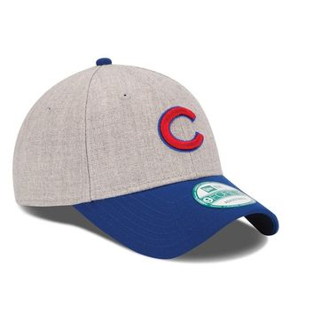 Chicago Cubs New Era The League Heather 9FORTY Adjustable Hat MLB Baseball Cap