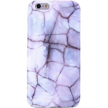iPhone 6 Case Opal Marble, VIVIBIN Shock Absorption Anti Scratch IMD Soft TPU Silicon Gel Protective Cover Case for Regula iPhone 6 / iPhone 6s - 4.7""