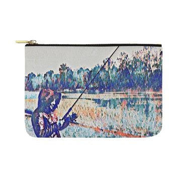 Levi Thang Fishing Design 1 Carry-All Pouch 12.5''x8.5''