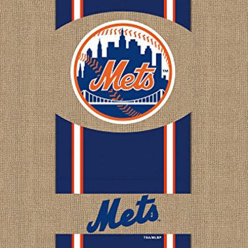 Evergreen Burlap New York Mets Garden Flag, 12.5 by 18 inches