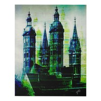 Emerald City Gothic Spires Glitch Art