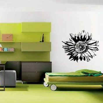 Sunflower Flower Wall Art Sticker Decal Ar684