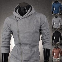 Jeansian Men Slim Fit Top Designed Hoodie Jacket Coat Shirts US XS S M L XL 8976