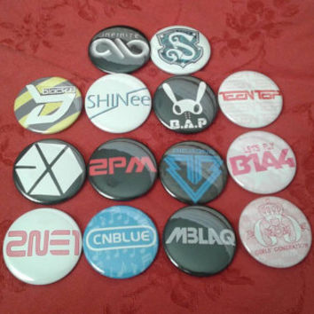 KPOP BUTTONS! Infinite,  shinee, mblaq, super junior, more...