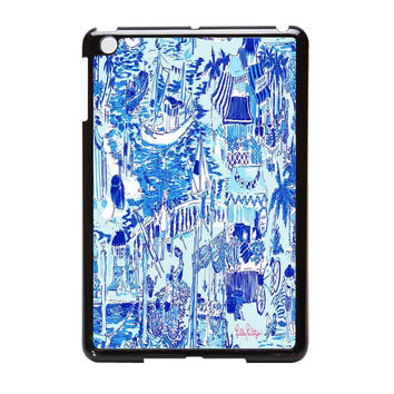 Lilly Pulitzer Patterns Blue iPad Mini Case