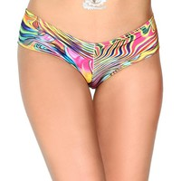 iHeartraves Groovy Scrunch Back Micro Rave Booty Shorts (Small/Medium)