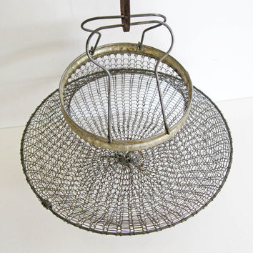 Vintage Wire Mesh Basket / Kitchen by UVABOUTIQUE on Etsy
