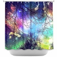 Sylvia Cook's 'Look to the Stars' | Artistic Decorative Designer Unique Shower Curtains