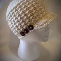 Gabby Newsboy Beanie by CuddleMeBeanies | Crocheting Pattern