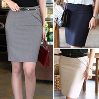 2014 New women's Career skirts Formal Office Ladies Clothing Slim Skirt Work Skirts 4 Colors SV003670 = 1946056132