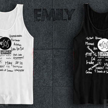 5 seconds of summer collage tank top for Women Men
