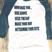 I Dare You - American Apparel Baseball Shirt