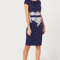 PAPER DOLLS NAVY LACE DETAIL DRESS