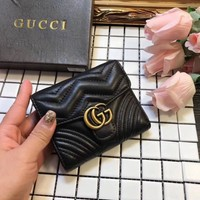 Gucci Gg Marmont Leather Wallet #1329