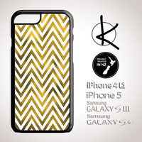 Gold Foil Chevron Case - iPhone 4/4S, 5/5S, 6 and Samsung Galaxy S3,S4, S5 also available in Bronze Foil, Silver Foil