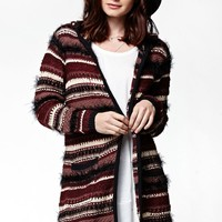 LA Hearts Textured Coatigan - Womens Sweater - Multi