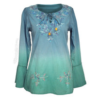 Ombre Peasant Blouse on Sale for $35.95 at The Hippie Shop