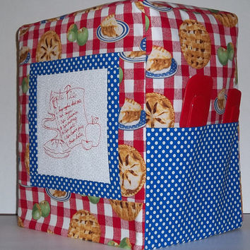 Kitchenaid Mixer Cover - Apple Recipe - Apple Pie - Stand Mixer Cover