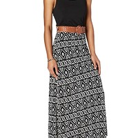Tribal Belted Maxi Dress