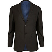 River Island MensBlack tailored suit jacket