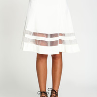 Belted Midi Organza Skirt