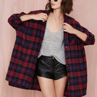 Casual Loose Long Sleeve Plaid Cotton Shirts * free shipping *