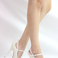STONE WHITE LEATHERETTE MARY JANE STILETTO HIGH HEEL PLATFORM PUMP SANDAL SZ 8.5