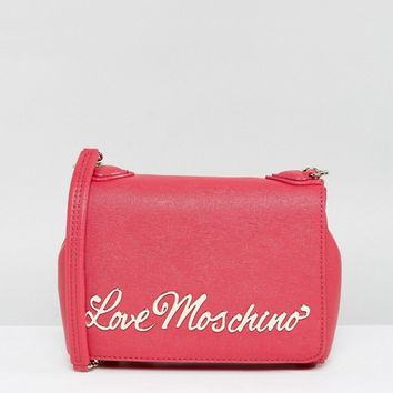 Love Moschino Logo Chain Strap Shoulder Bag at asos.com