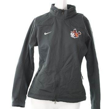 Nike Utica College Moose womens jacket gray sharkskin medium