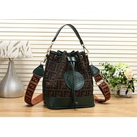 FENDI Newest Fashionable Women Handbag Tote Leather Shoulder Bag Crossbody Satchel Green