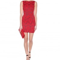 mytheresa.com - Adalaide lace-effect jacquard dress - Luxury Fashion for Women / Designer clothing, shoes, bags