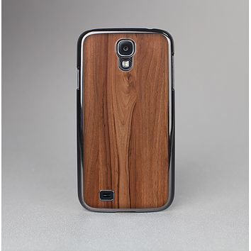 The Smooth-Grained Wooden Plank Skin-Sert Case for the Samsung Galaxy S4