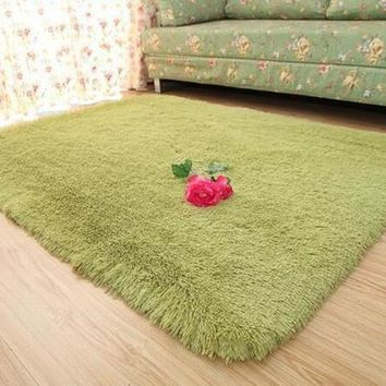 FarenHot Solid Color Bedroom and Living Room Carpets, Modern Style Rugs.