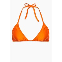 Carly Halter Triangle Bikini Top (Curves) - Orange