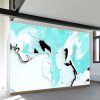 Turquoise Marble Wall Mural