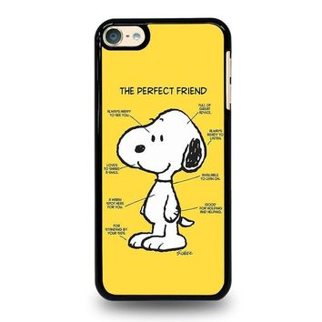 snoopy dog perfect friend ipod touch 6 case cover  number 1