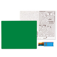 Solid Green Activity Placemat Kit for 4