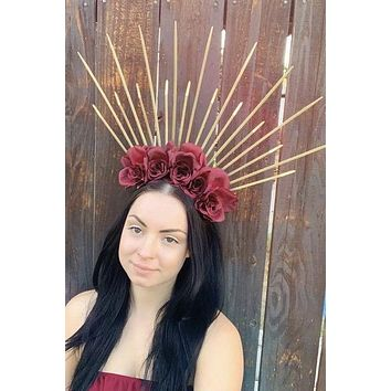 Red & Gold Spike Crown #D1055