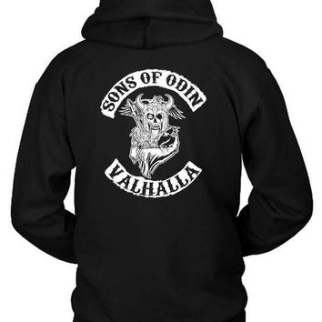 ESBH9S Marvel Sons Of Odin Valhalla Hoodie Two Sided